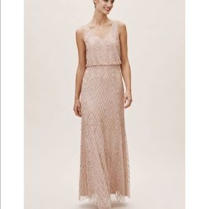 BHLDN Blaise Dress-Size 0, Blush